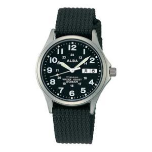 ALBA アルバ チタン素材採用 男性用腕時計 APBT211 ルミブライト付 取り寄せ品|morimototokeiten