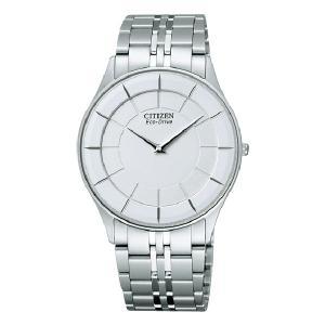 シチズン CITIZEN 薄型 ソーラー 男性用 腕時計 メンズウオッチ ステレット AR3010-65A 刻印対応、有料 取り寄せ品|morimototokeiten