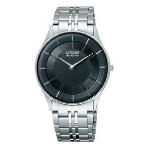 シチズン CITIZEN 薄型 ソーラー 男性用 腕時計 メンズウオッチ ステレットAR3010-65E 刻印対応、有料 取り寄せ品|morimototokeiten