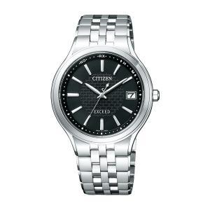 シチズン CITIZEN ソーラー電波時計 エクシード メンズ腕時計 AS7040-59E  名入れ刻印対応、有料 取り寄せ品|morimototokeiten