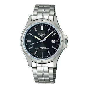 ALBA アルバ チタン素材採用 男性用腕時計 ASSX005 ルミブライト付  名入れ刻印対応、有料 取り寄せ品|morimototokeiten
