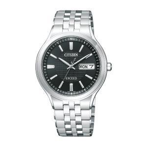 ソーラー電波時計 メンズ腕時計 シチズン エクシード AT6000-52E  名入れ刻印対応、有料 取り寄せ品|morimototokeiten