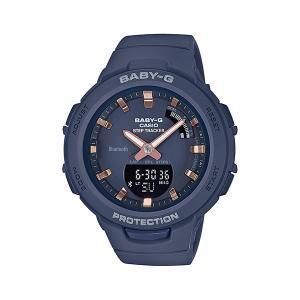 スマホと連携 歩数計付き 女性用 腕時計 カシオ ベビーG BSA-B100-2AJF CASIO Baby-G デジアナ 国内正規品  取り寄せ品|morimototokeiten