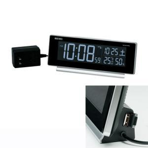 名入れ時計 文字入れ付き セイコー SEIKO AC100V 交流式デジタル目覚まし時計 電子音アラーム DL207S 取り寄せ品 代金引換不可|morimototokeiten