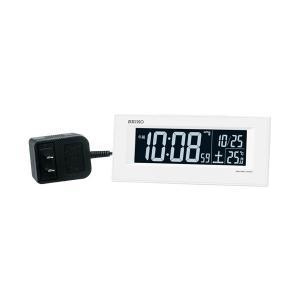 セイコー SEIKO AC100V 交流式 デジタル 電波時計 目覚まし時計 電子音 アラーム DL209W 名入れ対応、有料 取り寄せ品|morimototokeiten