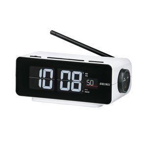 セイコー SEIKO AC100V 交流式 デジタル 電波時計 目覚まし時計 DL213W 名入れ対応、有料 取り寄せ品|morimototokeiten