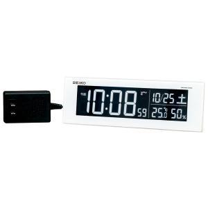 セイコー SEIKO AC100V 交流式 デジタル 電波時計 目覚まし時計 電子音 アラーム DL305W 名入れ対応、有料 取り寄せ品|morimototokeiten