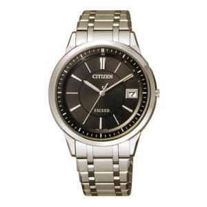 シチズン エコ・ドライブソーラー電波時計エクシード 男性用腕時計 EBG74-5025 名入れ刻印対応、有料 取り寄せ品|morimototokeiten