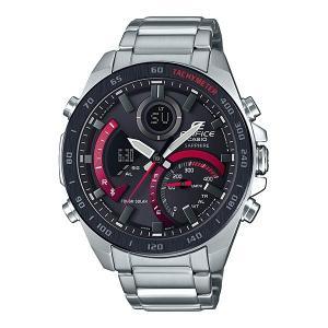 携帯電話スマホと連携で時刻修正 ECB-900YDB-1AJF ソーラー メンズ腕時計 カシオ エディフィス 取り寄せ品|morimototokeiten