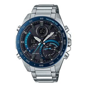 携帯電話スマホと連携で時刻修正 ECB-900YDB-1BJF ソーラー メンズ腕時計 カシオ エディフィス 取り寄せ品|morimototokeiten