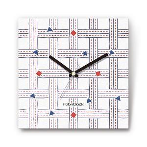 さしこ をデザインしたファブリック(布地)掛け時計 四角 受注生産品 morimototokeiten