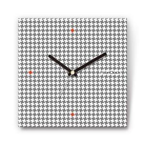 小千鳥 をデザインしたファブリック(布地)掛け時計 四角 受注生産品 morimototokeiten