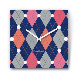 セーター をデザインしたファブリック(布地)掛け時計 四角 受注生産品 morimototokeiten