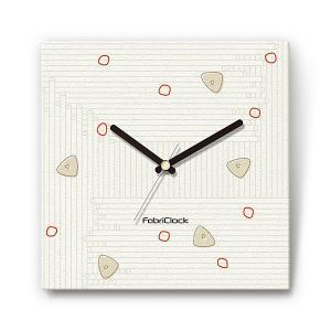 ペペロンチーノ の食品をデザインしたファブリック(布地)掛け時計 四角 受注生産品 morimototokeiten