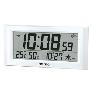 GPS衛星電波を受信する電波時計 GP502W 壁掛け時計 置掛兼用 セイコー SEIKO 裏面に文字入れ対応、有料 取り寄せ品|morimototokeiten