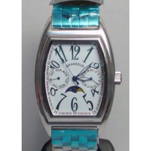 グランドール 男性用腕時計 GSX018W1 紳士用 時計 トノー型 GRANDEUR 名入れ刻印対応、有料|morimototokeiten