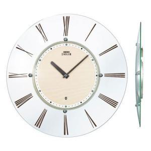 球面ガラスの薄型壁掛け時計 セイコー SEIKO 電波時計 エンブレム EMBLEM HS529A 文字入れ対応、有料 送料無料 取り寄せ品|morimototokeiten