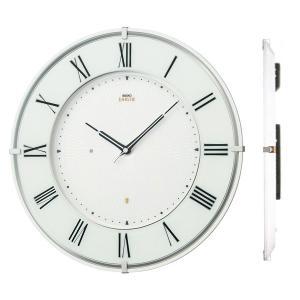 壁掛け時計 セイコー SEIKO 電波時計 エンブレム EMBLEM HS542W 文字入れ対応、有料 取り寄せ品|morimototokeiten