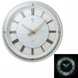 暗くなると光る 壁掛け時計 セイコー HS550W  電波時計 エンブレム SEIKO EMBLEM 文字入れ対応、有料 取り寄せ品|morimototokeiten