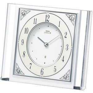置き時計 セイコー SEIKO エンブレム EMBLEM HW565W 文字入れ対応、有料 取り寄せ品|morimototokeiten
