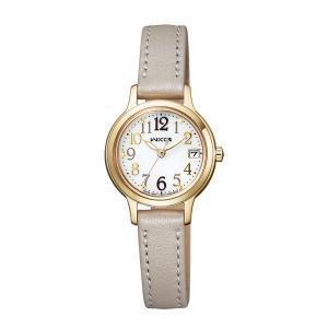 シチズン ソーラー時計 ウイッカ KH4-921-10 女性用 腕時計 革バンド wicca 名入れ刻印対応、有料 取り寄せ品|morimototokeiten