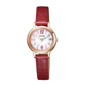 シチズン ソーラー時計 ウイッカ KH4-963-10 女性用 腕時計 革バンド wicca 名入れ刻印対応、有料 取り寄せ品|morimototokeiten