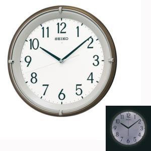 暗くなるとライトが点灯する壁掛け時計 電波時計 掛時計 KX203B セイコー SEIKO 文字入れ対応、有料 取り寄せ品|morimototokeiten