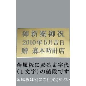 掛時計・置時計の文字プレート(金属板)の文字(1文字分)|morimototokeiten