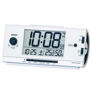 セイコー SEIKO 大音量の電子音アラーム音目覚まし時計 NR534W ライデン 文字入れ名入れ対応、有料 取り寄せ品|morimototokeiten