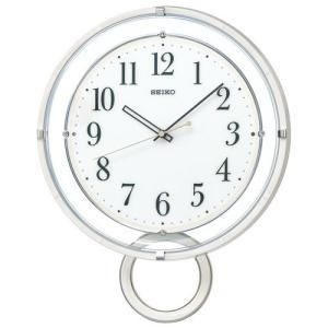 暗くなると秒針を止め 音がしない 壁掛け時計 おしゃれ 電波時計 振り子 掛時計 PH205W セイコー SEIKO 文字入れ対応、有料 取り寄せ品|morimototokeiten