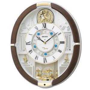 セイコーからくり時計 電波時計 掛け時計 ウェーブシンフォニー RE575B 文字入れ対応、有料 取り寄せ品|morimototokeiten