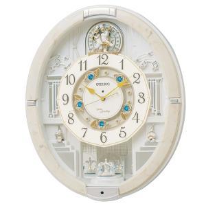 セイコーからくり時計 電波時計 掛け時計 ウェーブシンフォニー RE576A 文字入れ対応、有料 取り寄せ品|morimototokeiten