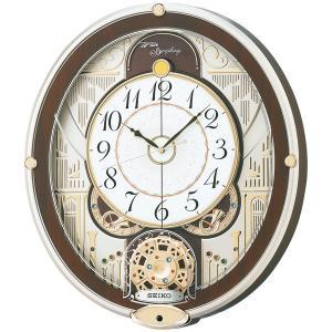 セイコーからくり時計 電波時計 壁掛け時計 RE577B ウェーブシンフォニー 文字入れ対応、有料 取り寄せ品|morimototokeiten