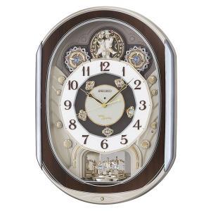 セイコーからくり時計 電波時計 掛け時計 RE578B ウェーブシンフォニー 文字入れ対応、有料 取り寄せ品|morimototokeiten