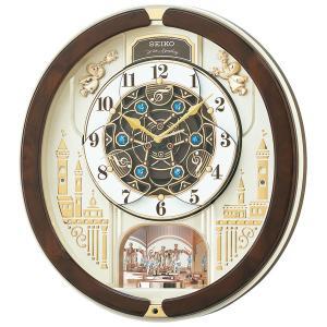 セイコーからくり時計 電波時計 壁掛け時計 RE579B ウェーブシンフォニー 文字入れ対応、有料 取り寄せ品|morimototokeiten