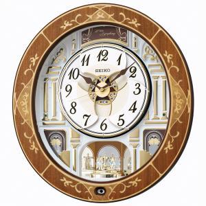 セイコーからくり時計 電波時計 壁掛け時計 RE580B ウェーブシンフォニー 文字入れ対応、有料 取り寄せ品|morimototokeiten