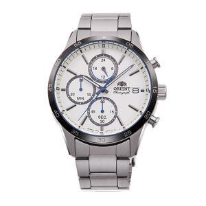 メンズ 腕時計 オリエント ORIENT 日本製 クロノグラフ RN-KU0001S 電池式 名入れ刻印対応、有料 取り寄せ品|morimototokeiten