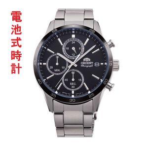 メンズ 腕時計 オリエント ORIENT 日本製 クロノグラフ RN-KU0002B 電池式 名入れ刻印対応、有料|morimototokeiten