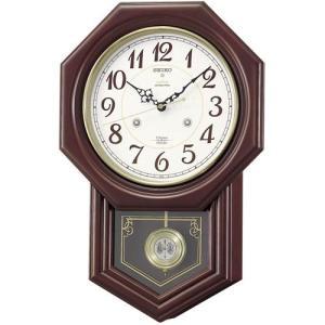 木枠の柱時計 セイコー チャイムで報知 電波時計 壁掛け時計 RQ205B 文字入れ対応、有料 取り寄せ品|morimototokeiten