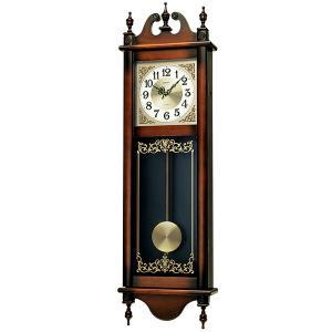セイコー 木枠の柱時計 電子音チャイムで報知 壁掛け時計 RQ306A 文字入れ対応、有料 取り寄せ品|morimototokeiten