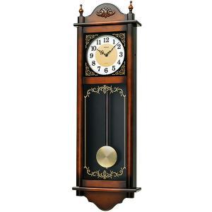 セイコー 電子音チャイムで報知する木枠の柱時計RQ307A 文字入れ対応、有料 取り寄せ品|morimototokeiten