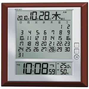 セイコー SEIKO 掛け時計置き時計兼用マンスリーカレンダー付きデジタル電波時計SQ421B 取り寄せ品|morimototokeiten
