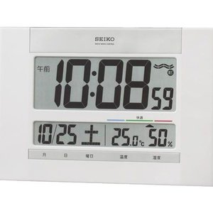 セイコー 温度湿度表示つきデジタル電波時計 壁掛け時計SQ429W 「取り寄せ品」|morimototokeiten
