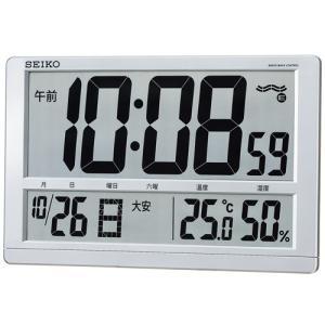 セイコー SEIKO 温度湿度表示つき置き掛け兼用デジタル電波時計 SQ433S 名入れ・文字書き、有料 取り寄せ品|morimototokeiten