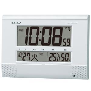 チャイム メロディを任意の時刻にセット SQ435W セイコー SEIKO 温度湿度表示つき置き掛け兼用デジタル電波時計 名入れ・文字書き、有料|morimototokeiten