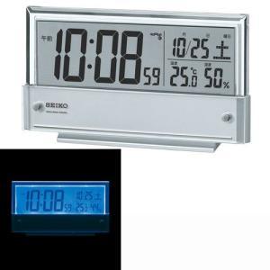 セイコー SEIKO 温度湿度表示つき置き時計 目覚し時計 デジタル電波時計 SQ773S 名入れ・文字書き、有料 取り寄せ品|morimototokeiten