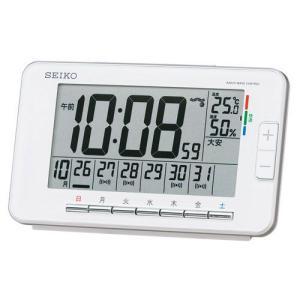 曜日ごとにアラーム時刻を設定可能 目覚し時計 デジタル電波時計 SQ774W セイコー SEIKO 名入れ・文字書き、有料 取り寄せ品|morimototokeiten