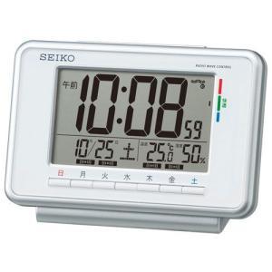 曜日ごとにアラーム時刻を設定可能 目覚し時計 デジタル電波時計 SQ775W セイコー SEIKO 名入れ・文字書き、有料 取り寄せ品|morimototokeiten