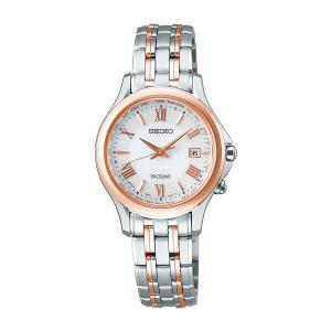 セイコー ソーラー電波時計 SWCW162 エクセリーヌ 女性用腕時計 SEIKO EXCELINE 刻印対応、有料 取り寄せ品|morimototokeiten