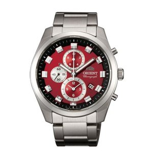 メンズ 腕時計 オリエントNeo70's  ORIENT 男性用 時計 紳士用 WV0481TT クロノグラフ 赤色系 名入れ刻印対応、有料 取り寄せ品|morimototokeiten